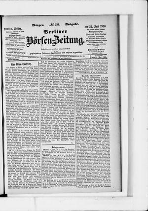 Berliner Börsen-Zeitung vom 22.06.1900