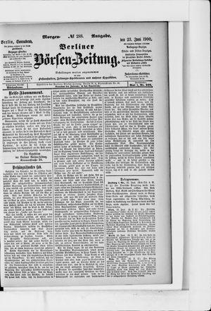 Berliner Börsen-Zeitung vom 23.06.1900