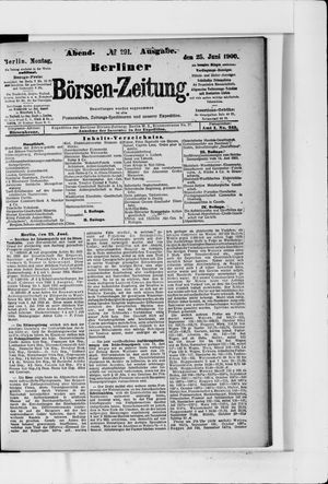Berliner Börsen-Zeitung vom 25.06.1900