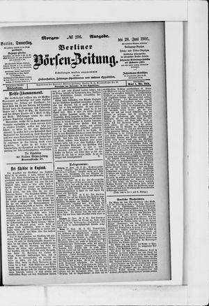 Berliner Börsen-Zeitung vom 28.06.1900