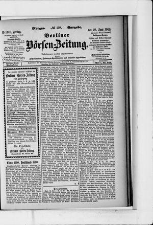 Berliner Börsen-Zeitung vom 29.06.1900