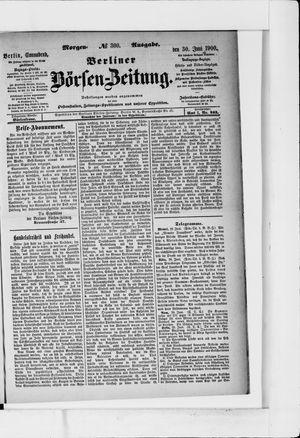 Berliner Börsen-Zeitung vom 30.06.1900