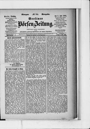 Berliner Börsen-Zeitung vom 03.07.1900