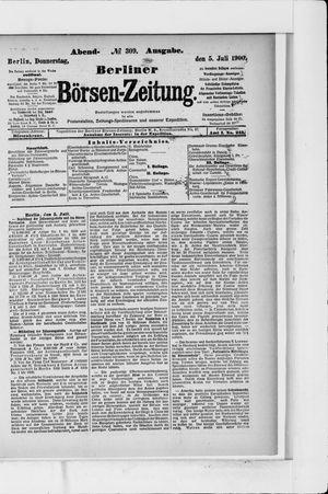 Berliner Börsen-Zeitung vom 05.07.1900