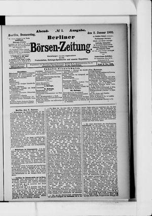 Berliner Börsen-Zeitung vom 02.01.1902