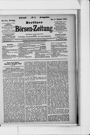Berliner Börsen-Zeitung vom 03.01.1902