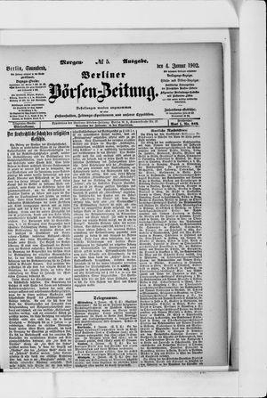 Berliner Börsen-Zeitung vom 04.01.1902