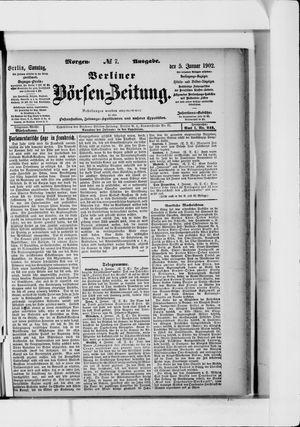 Berliner Börsen-Zeitung vom 05.01.1902