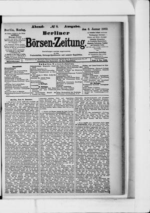 Berliner Börsen-Zeitung vom 06.01.1902
