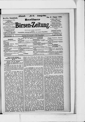 Berliner Börsen-Zeitung vom 11.01.1902