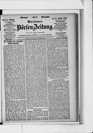 Berliner Börsen-Zeitung vom 12.01.1902