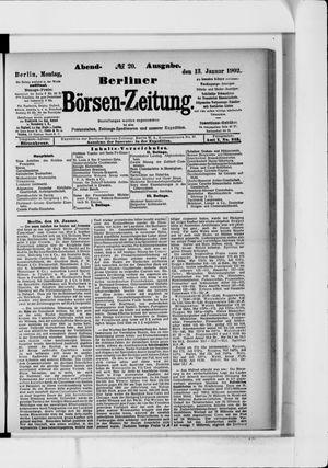 Berliner Börsen-Zeitung vom 13.01.1902