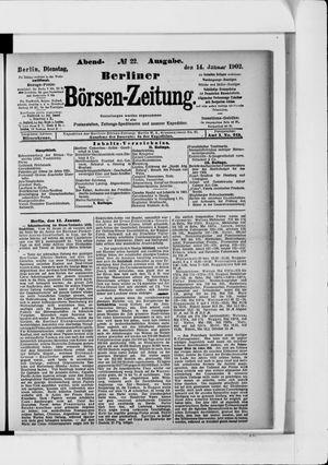 Berliner Börsen-Zeitung vom 14.01.1902