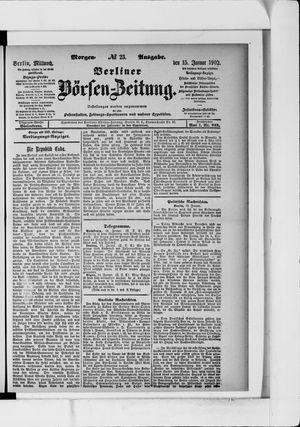 Berliner Börsen-Zeitung vom 15.01.1902