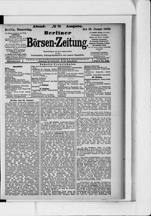 Berliner Börsen-Zeitung vom 16.01.1902