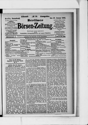 Berliner Börsen-Zeitung vom 18.01.1902