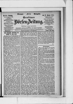 Berliner Börsen-Zeitung vom 19.01.1902