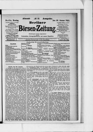 Berliner Börsen-Zeitung vom 20.01.1902