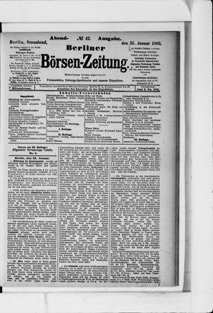 Berliner Börsen-Zeitung vom 25.01.1902