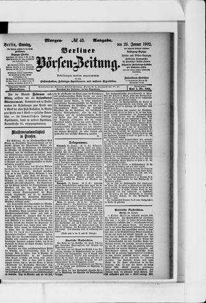 Berliner Börsen-Zeitung vom 26.01.1902
