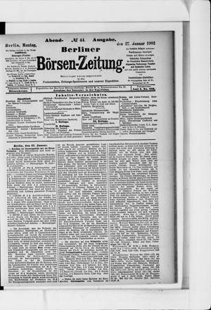 Berliner Börsen-Zeitung vom 27.01.1902