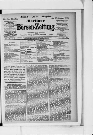 Berliner Börsen-Zeitung vom 28.01.1902