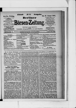 Berliner Börsen-Zeitung vom 31.01.1902