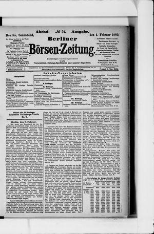 Berliner Börsen-Zeitung vom 01.02.1902