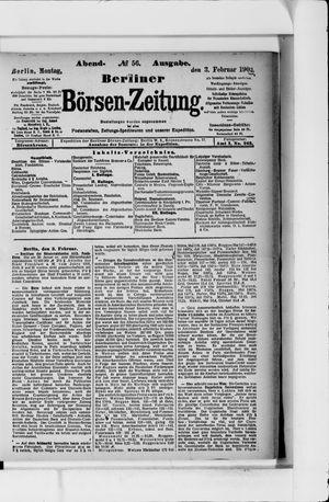 Berliner Börsen-Zeitung vom 03.02.1902