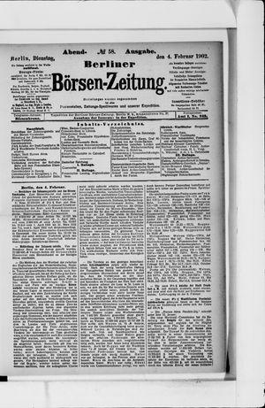 Berliner Börsen-Zeitung vom 04.02.1902