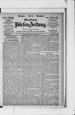 Berliner Börsen-Zeitung vom 05.02.1902
