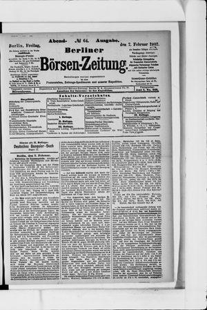 Berliner Börsen-Zeitung vom 07.02.1902