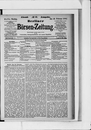 Berliner Börsen-Zeitung vom 10.02.1902