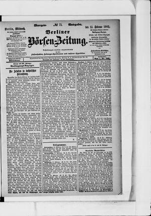 Berliner Börsen-Zeitung vom 12.02.1902