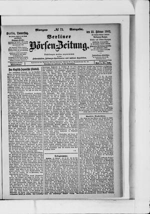 Berliner Börsen-Zeitung vom 13.02.1902