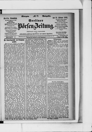 Berliner Börsen-Zeitung vom 15.02.1902