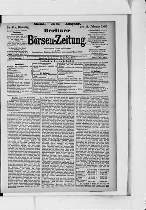 Berliner Börsen-Zeitung vom 18.02.1902