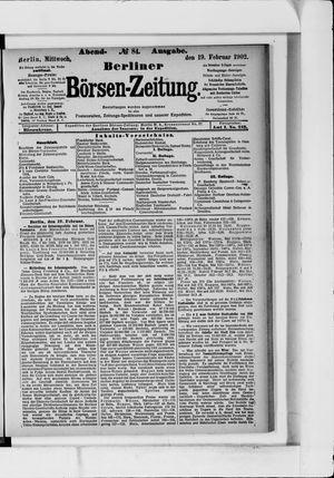 Berliner Börsen-Zeitung vom 19.02.1902