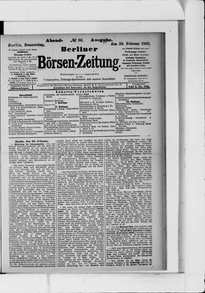 Berliner Börsen-Zeitung vom 20.02.1902