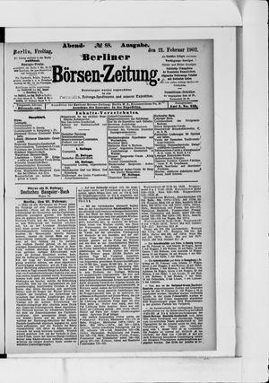 Berliner Börsen-Zeitung vom 21.02.1902