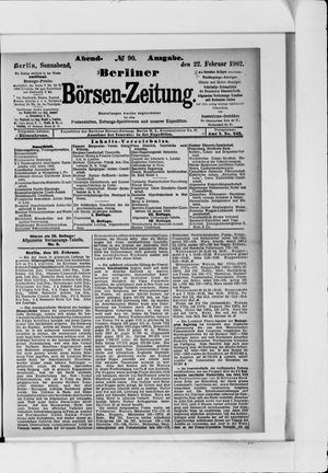 Berliner Börsen-Zeitung vom 22.02.1902