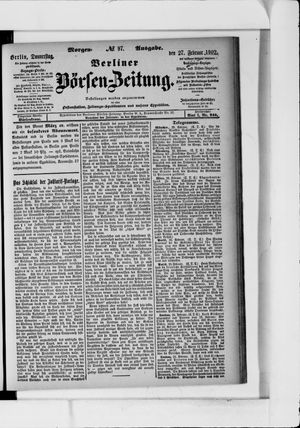Berliner Börsen-Zeitung vom 27.02.1902