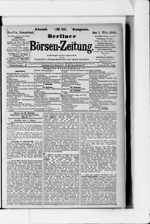 Berliner Börsen-Zeitung vom 01.03.1902