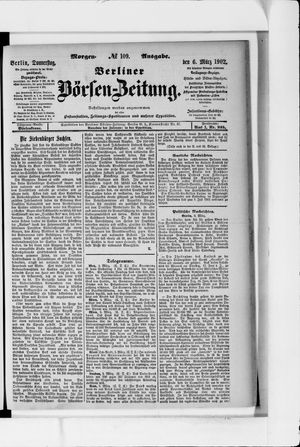 Berliner Börsen-Zeitung vom 06.03.1902