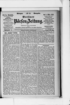 Berliner Börsen-Zeitung vom 08.03.1902