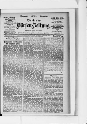 Berliner Börsen-Zeitung vom 12.03.1902