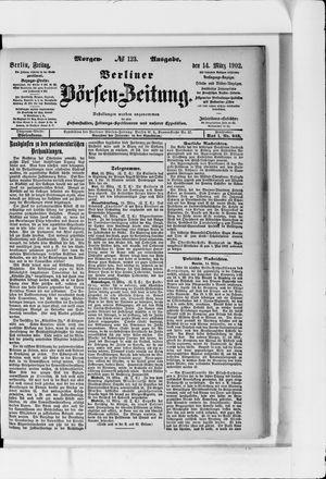 Berliner Börsen-Zeitung vom 14.03.1902