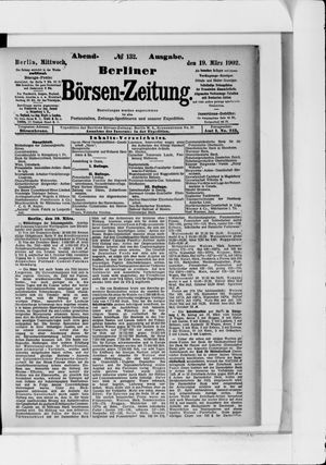Berliner Börsen-Zeitung vom 19.03.1902