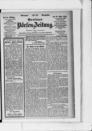 Berliner Börsen-Zeitung vom 30.03.1902