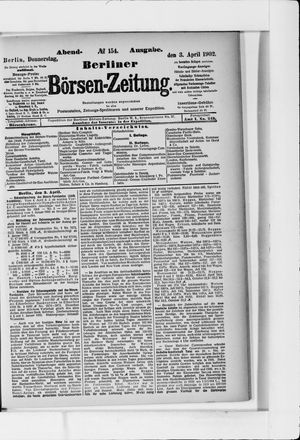 Berliner Börsen-Zeitung vom 03.04.1902